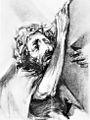 Rudolf Heinisch, Kreuzweg - II. Christus nimmt das Kreuz auf sich, 1945.jpeg