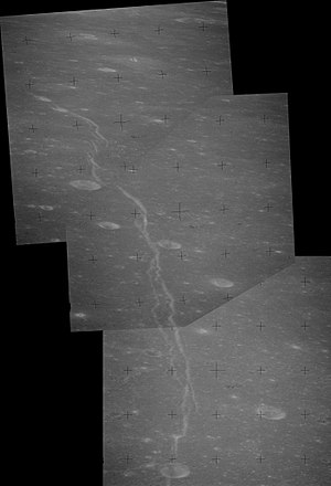 Rupes Cauchy - Mosaic of Apollo 15 images