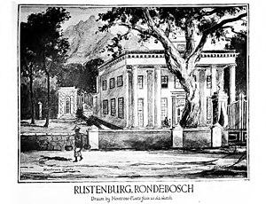 Rustenburg School for Girls - Sketch of Rustenburg House by Montrose Cloete