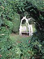 Rustic seat in Mirehouse gardens - geograph.org.uk - 608329.jpg