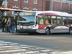 Rutgers Campus Buses - Image: Rutgers EE bus side