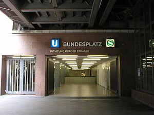 Berlin Bundesplatz station - Entrance to the S-Bahn and U-Bahn station