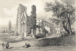 S.W. view of Landaff cathedral, 1846