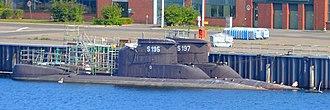 Type 206 submarine - Image: S195 et S197 au Port de Kiel