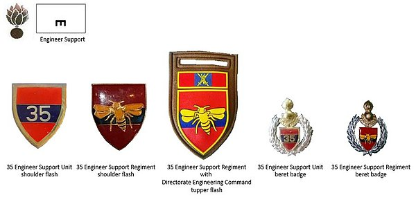 SADF era 35 Engineer Support Regiment insignia