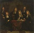 SA 7297-De regenten van het Leprozenhuis-Vier regenten, de boekhouder en de binnenvader van het Leprozenhuis.jpg