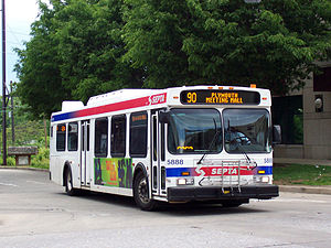 SEPTA Suburban Division bus routes - Image: SEPTA5888