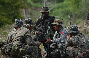 Tarlac - United States and Philippine troops during a military exercise in Crow Valley, Tarlac