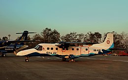 SITA AIR DORNIER 228 9N-AHB AT KATHMANDU TRIBHUVAN AIRPORT NEPAL FEB 2013 (8511829286).jpg