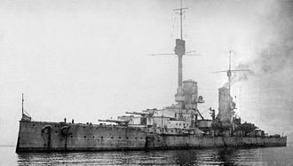 König-class battleship - Image: SMS Kronprinz Wilhelm in Scapa Flow