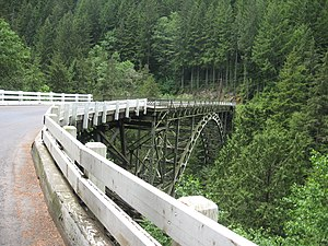 Carbon River - This is the one lane bridge on SR165 about 2 miles south of Carbonado, Washington, on the way to Mt. Rainer.