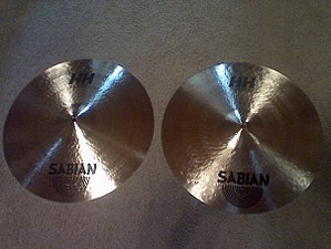 Clash cymbals - A pair of Sabian clash cymbals