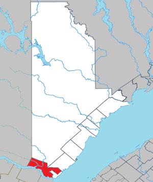 Sacré-Coeur, Quebec - Image: Sacré Coeur Quebec location diagram