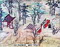 Saigyo Monogatari Emaki - Tsunetaka - Saigyo and Oji shinto shrine.jpg