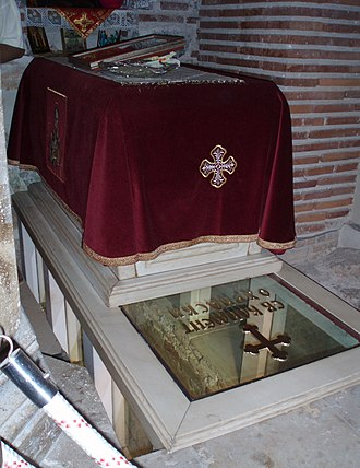 Clement of Ohrid - Tomb of Saint Clement at Saint Panteleimon Church, Ohrid