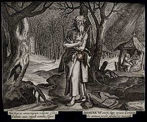 Dominic Loricatus - Image: Saint Dominic of Loricatus. Engraving after M. de Vos. Wellcome V0031911