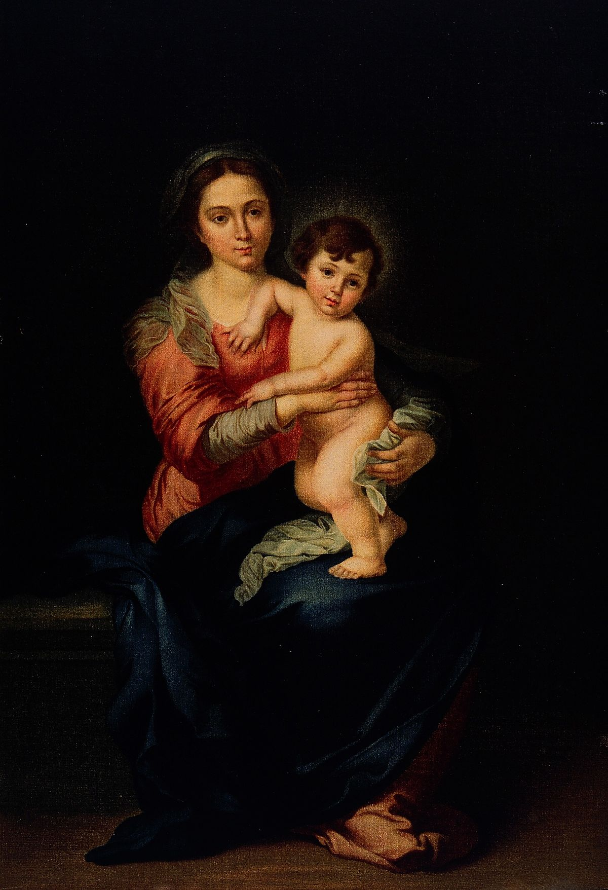 Saint Mary (the Blessed Virgin) with the Christ Child. Colou Wellcome V0033761.jpg