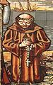 Saint Nicholas Catholic Church (Zanesville, Ohio) - tympanum mosaic, Columbus discovers America, detail - friar.jpg
