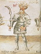 """""""Saladin, king of Egypt"""" from a fifteenth century illuminated manuscript; the """"globus"""" in his left hand is a European symbol of kingly power"""