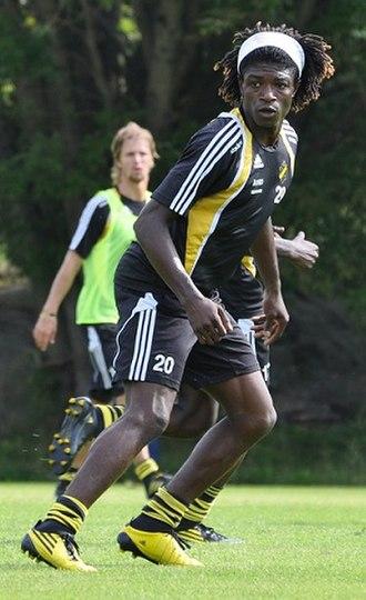 Mohamed Bangura - Bangura training in his first spell at AIK.
