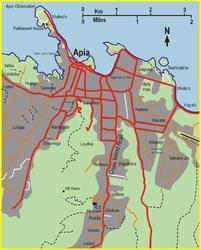 Stadtplan von Apia