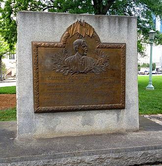 Samuel A'Court Ashe - Samuel A'Court Ashe Memorial in Raleigh, NC