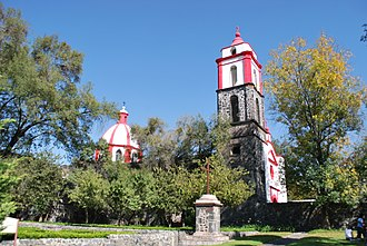 Pueblo Culhuacán - View of the monastery of Culhuacán