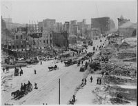 Earthquake damage at Mid-Market in 1906