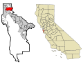 San Mateo County California Incorporated and Unincorporated areas South San Francisco Highlighted.svg