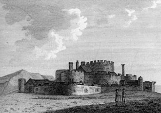 Sandgate Castle - Depiction of the castle in 1762
