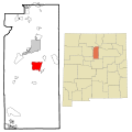Santa Fe County New Mexico Incorporated and Unincorporated areas Eldorado at Santa Fe Highlighted.svg