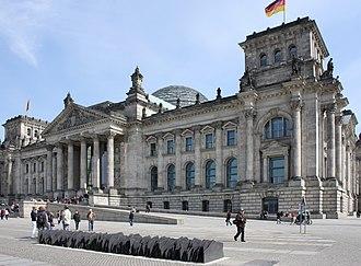 Clara Bohm-Schuch - Memorial plaque at the Reichstag