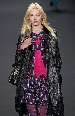 Sasha Pivovarova - Sasha Pivovarova on the runway for Anna Sui, Fall 2009 at New York Fashion Week