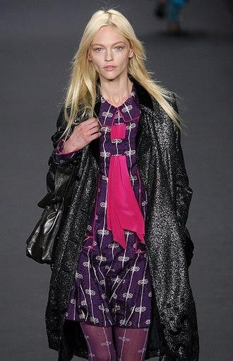 Sasha Pivovarova - Sasha Pivovarova on the runway for Anna Sui, Fall 2009 at New York Fashion Week