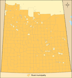 Map of rural municipalities in Saskatchewan as of 2013