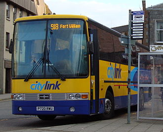 Scottish Citylink - Van Hool Alizée bodied DAF SB3000 in Oban in October 2007