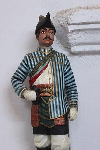 Yogyakarta Kraton Guards - Sculpture of Jogokaryo warrior (Javanese: ꦗꦺꦴꦒꦺꦴꦏꦂꦪꦺꦴ) in the museum of Kraton Ngayogyakarta Hadiningrat