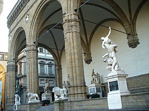 Sculptures in the Loggia dei Lanzi