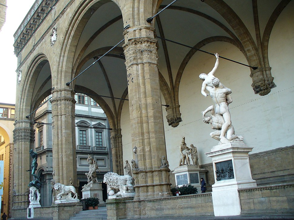 Sculptures in the Loggia dei Lanzi