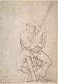 Seated Man, Precariously Balanced, Playing Bagpipes MET DP801179.jpg
