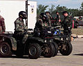 Security Force officers used 4x4 vehicles to patrol the damged parameter of Tinker AFB, Oklahoma, following a tornado, the F-5 tornado devastated a good portion of Oklahoma City, Oklahoma just barely missing DF-SD-00-03245.jpg