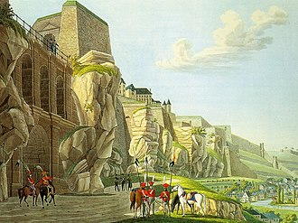 Bock (Luxembourg) - The Bock fortifications by Christophe-Guillaume Selig (1791-1837)