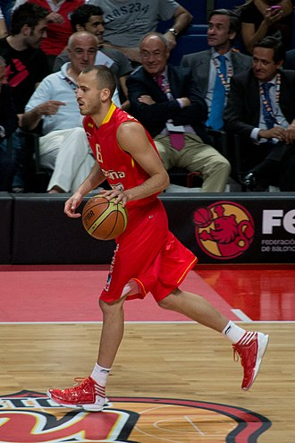 Sergio Rodríguez - Rodríguez with the Spanish national team in 2012