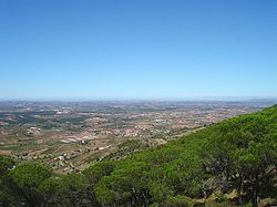The view from the Serra de Monte Junto, overlooking Bombarral