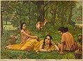 Shakuntala Patra Lekhan (Shakuntala writing a Letter) by Raja Ravi Varma.jpg