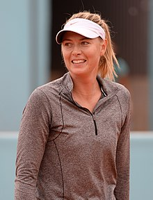 Sharapova at the Mutua Madrid Open 2015.jpg