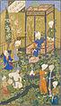 Shaybanid Dynasty, Feast of Id, Copy of Divan by Hafiz, 1523 AD.jpg
