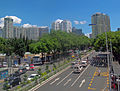 Shenzhen Children's Park from Dongle footbridge along Middle Dongmen Road.jpg