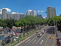 Shenzhen Children's Park from Dongle footbridge along Middle Dongmen Road.jpg