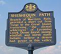Sheshequin Path Historical Marker.JPG
